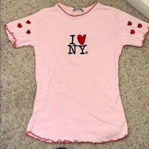Girls New York embroidered shirt size 14-16